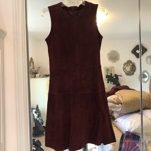 Ann Taylor Suede Burgundy Dress